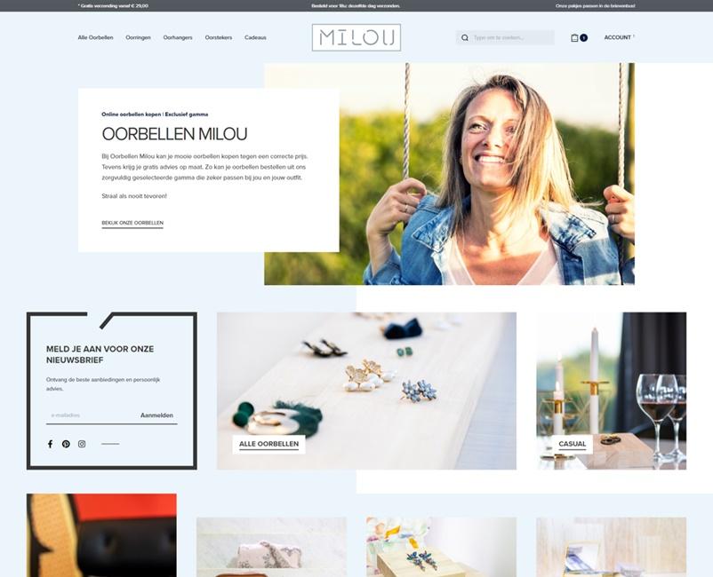 Webshop Oorbellen Milou Ontwerp